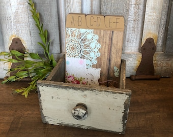 Address Box, Wedding Guest Book, Guest Book Alternative, Address Cards, Shabby Chic, Vintage, Sewing, Floral