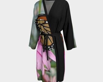 Monarch Butterfly, Peignoir, Robe, Wedding Robe, Bridesmaid Robe, Bathrobe, Housecoat, Wrap, Cover up, Beach Cover up, Butterfly Robe