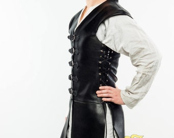 "leather doublet ""Corsar"";LARP;Cosplay;leather"