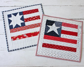 Star Spangled Mini Quilt PDF Pattern with Two Star Block Options