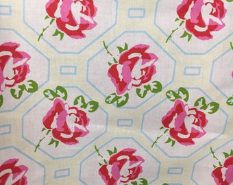 Sugar Hill by Tanya Whelan for Free Spirit, Rose Trellis, Westminster Fabrics, By the Yard, Cottage Rose Floral, Arts and Crafts, Quilting