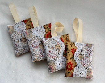 ORGANIC FRENCH LAVENDER Sachets/Grown in Canada Lavender/ Fresh Lavender Sachets/Hand Made Lavender Sachets/Fresh Fragrance Lavender To Hang