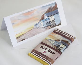 SPECIAL OFFER - Art Bar and Card Deal, Dark Chocolate 100g