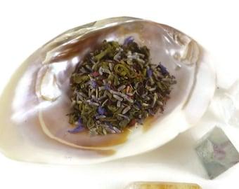1 ounce -  Yes Please - Green Tea Earl Grey Lavender - loose leaf tea - green tea