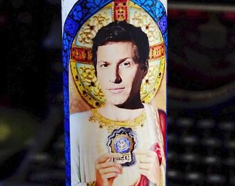 Saint Jake Peralta Prayer Candle / Andy Samberg / Brooklyn 99