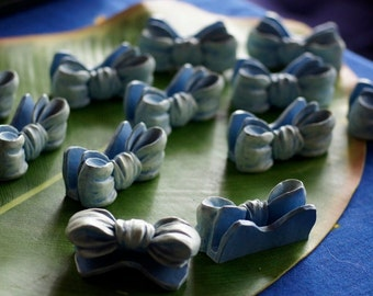 Ref: 112  Vintage Baby blue table place card holders. 1995.