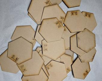 Bases de Hex 10 x 2,5-3 mm MDF