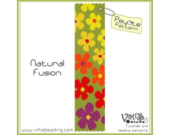Peyote Pattern for bracelet: Natural Fusion INSTANT DOWNLOAD PDF - buy more, save more - bp212