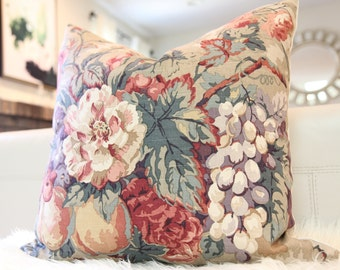 """20x20"""" Romantic Floral in Sepia Pillow Cover"""