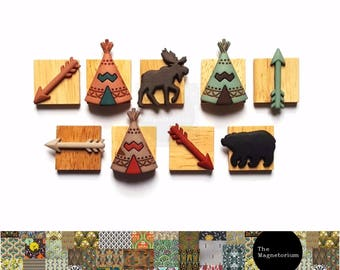 Woodlands Wilderness Magnets [Fridge Magnets, Refrigerator Magnets, Magnet Sets, Office Decor, Kitchen Decor, Magnetic Board]