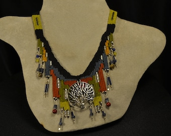 Silver Tree Woven Necklace 839