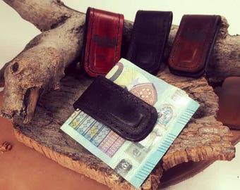 Magnet Leather Money Clip