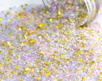 Unicorn Dust Fancy Glitter Sugar Crystals, Edible Glitter, Pastel Sugar Crystals, Edible Gold Glitter, Chunky Sugar, Cotton Candy Sugar