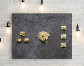 pasta v. one // food photography print // canvas wall art // kitchen wall art // dining room wall art // rustic wall art // italian food