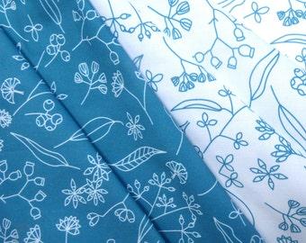 Original Australian gumnuts design, cotton quilting fabric, 2 x fat quarters