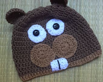 Adult Sized Fun Squirrel Beanie Hat
