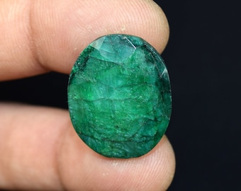 27.65  Cts. Beautiful  African  Emerald Oval  Cut Loose Gemstone