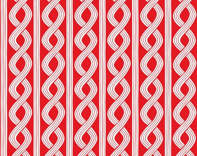 Half Yard True Blue - Seersucker Twist in Red - Cotton Quilt Fabric - Nautical Fabric designed by Ana Davis for Blend Fabrics (W1853)