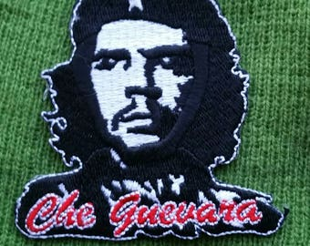 """Iron On """"Che Quevara"""" Embroidered Patch 3'' × 3"""""""