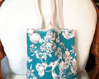 Cloth bag, floral picture