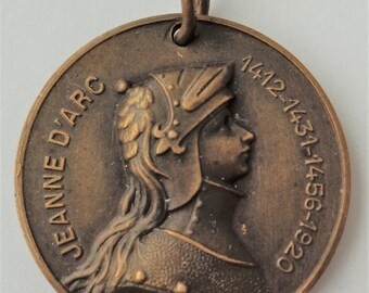 Rare Antique Medal St. Joan Of Arc