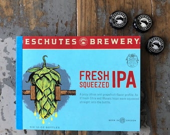 Recycled Six Pack Notebook Deschutes Brewery Fresh Squeezed IPA