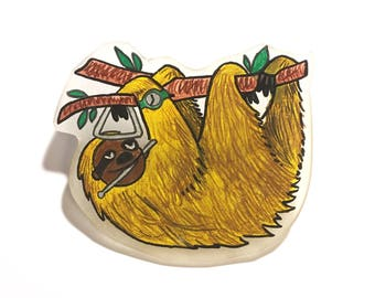 Sloth traingle brooch