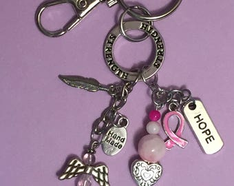Breast Cancer Awareness Key Chain / Bag Charm