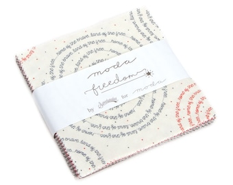 """Freedom Charm Pack by Sweetwater for Moda, 42 - 5"""" squares"""