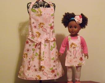 "18"" Doll & Me Aprons, Mermaids"