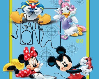 "Mickey & Friends Game Over Panel from Springs Creative - 36""x44"""