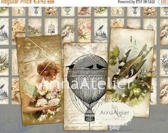 SALE - 40% OFF Domino Tiles - Feelings and Sentiments - Digital Tiles - Digital Domino Tags - Digital Tags - Digital Collage Sheet