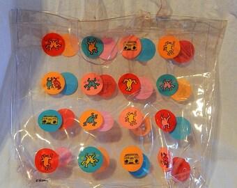 Clear Vinyl Keith Haring Tote Bag