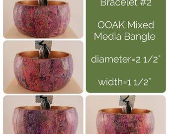 OOAK Art Bracelet #2 - Mixed Media Bangle