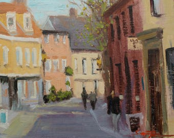 "Elm Hill, Norwich. Original Painting. 8""x10"""
