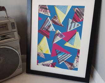 80s Triangles giclee archival print - Sarah Bagshaw