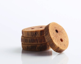 Wooden beech buttons handmade 25mm