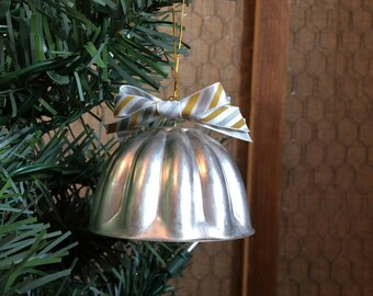 Bell Christmas Ornament from Vintage Gelatin Mold
