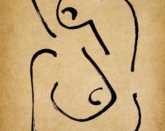 Opio, A Gestural Drawing.