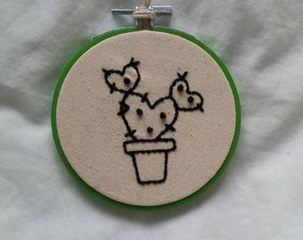 Embroidery Hoop- Prickly Heart Cactus
