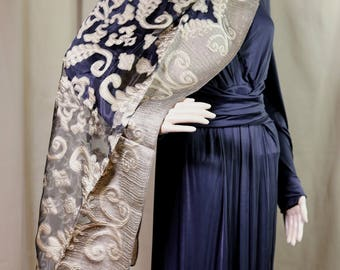 Black and Gold Brocade wrap/scarf