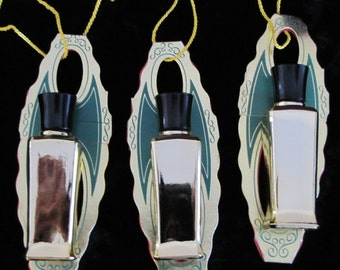 Bottles STUDIO GIRL Perfume of Hollywood , 3 small gold bottles and box.