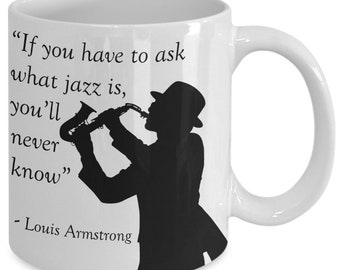 Jazz mug - louis armstrong - coffee or tea cup