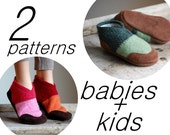 Sewing Pattern for Baby & Kids Slipper Shoes, Tutorial PDF Digital Download, Baby size 0-12, 6-18, 12-24, Kids size 7.5, 9.5, 11.5, 13, 2.5