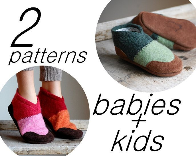 Sewing Pattern for Baby & Kids Slipper Shoes Tutorial PDF