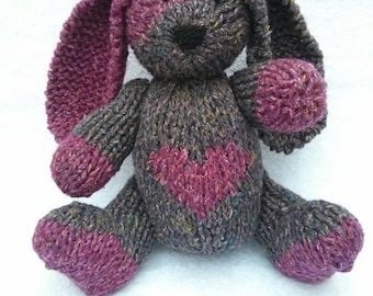 Grace the Hand Knit Bunny, cute Bunny, Children, Baby, Gift, Stuffed Animal, Toy, children's toy, cute bunny, bunny stuffie, bunny plushie