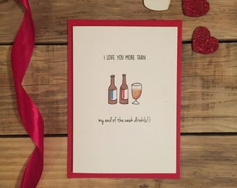 End of the week drinks Card