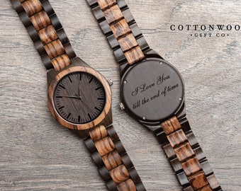 Dad Gifts, Fathers Day Gift, Wood Watches, Husband Gift, Men Wooden Watch, Gifts for Him, Men Engraved Watch, 1st Fathers Day Gifts for Dad