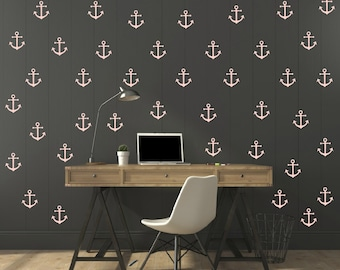 FREE SHIPPING Wall Decal Pastel  Pink Anchor 113 Wall Decal. Nursery Wall Decal. Home Decor. Diy Wall Decal.Kids Wall Decal. Vinyl  Decal.