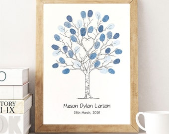 "A4 Fingerprint Tree Guest Book  ""Unity Tree"" . A4 size incl 2 ink pads.  Personalised with names and dates. FREE delivery Aust."